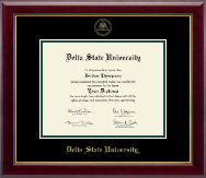 Delta State University  Diploma Frame - Gold Embossed Diploma Frame in Gallery