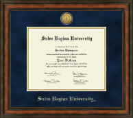 Salve Regina University  Diploma Frame - Gold Engraved Medallion Diploma Frame in Ashford