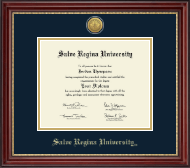 Salve Regina University  Diploma Frame - Gold Engraved Medallion Diploma Frame in Kensington Gold