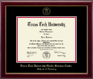 Texas Tech University Health Sciences Center Diploma Frame - Gold Embossed Diploma Frame in Gallery