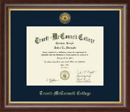 Truett McConnell College Diploma Frame - Gold Engraved Medallion Diploma Frame in Hampshire