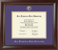 San Francisco State University Diploma Frame - Gold Embossed Diploma Frame in Rainier