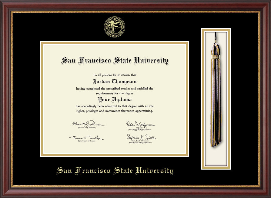 San Francisco State University Tassel Edition Diploma Frame In Newport