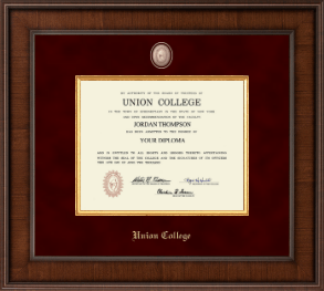 union college in new york diploma frames church hill classics union college in new york diploma frame presidential masterpiece diploma frame in madison