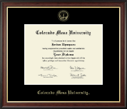 Colorado Mesa University   Diploma Frame - Gold Embossed Diploma Frame in Studio Gold