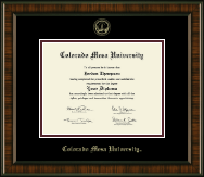 Colorado Mesa University   Diploma Frame - Gold Embossed Diploma Frame in Brentwood