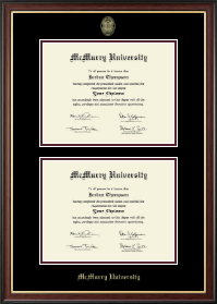 McMurry University Diploma Frame - Double Diploma Frame in Studio Gold