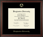 Binghamton University Diploma Frame - Gold Embossed Diploma Frame in Studio