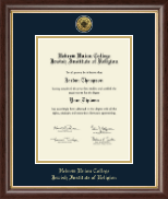 Hebrew Union College Diploma Frame - Gold Engraved Medallion Diploma Frame in Hampshire