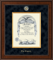 The Citadel The Military College of South Carolina Diploma Frame - Presidential Masterpiece Diploma Frame in Madison