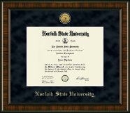 Norfolk State University Diploma Frame - Gold Engraved Medallion Diploma Frame in Brentwood
