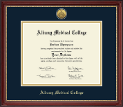 Albany Medical College Diploma Frame - Gold Engraved Medallion Diploma Frame in Kensington Gold