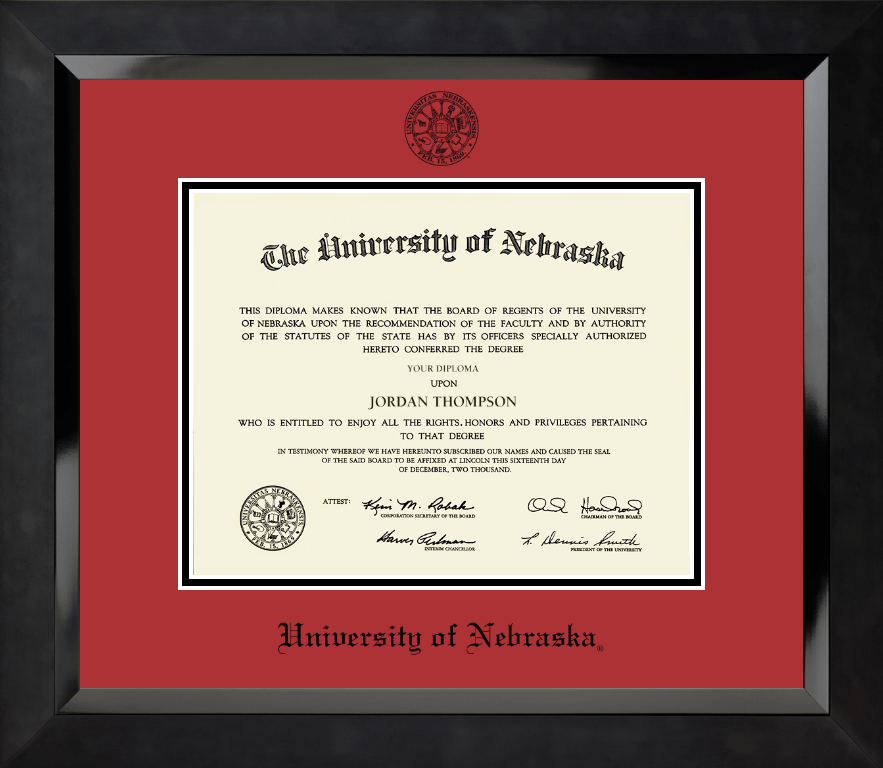university of nebraska diploma frames church hill classics university of nebraska diploma frame black embossed diploma frame in eclipse