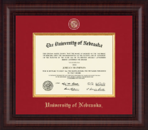 University of Nebraska Diploma Frame - Presidential Masterpiece Diploma Frame in Premier
