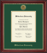 Wilberforce University Diploma Frame - Gold Engraved Medallion Diploma Frame in Kensington Gold