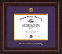 Western Illinois University Diploma Frame - Presidential Gold Engraved Diploma Frame in Premier