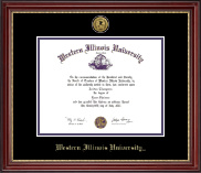 Western Illinois University Diploma Frame - Gold Engraved Medallion Diploma Frame in Kensington Gold