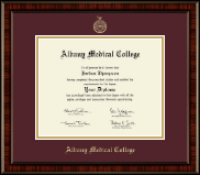 Albany Medical College Diploma Frame - Gold Embossed Diploma Frame in Ridgewood