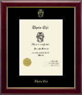 Theta Chi Fraternity Certificate Frame - Embossed Certificate Frame in Gallery