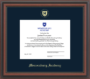 Mercersburg Academy Diploma Frame - Gold Embossed Shield Diploma Frame in Regency