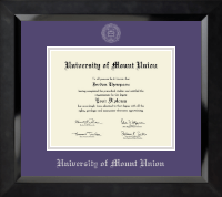 University of Mount Union Diploma Frame - Silver Embossed Diploma Frame in Eclipse