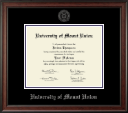 University of Mount Union Diploma Frame - Silver Embossed Diploma Frame in Studio