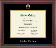 Chabot College Diploma Frame - Gold Engraved Medallion Diploma Frame in Signature