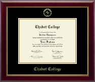 Chabot College Diploma Frame - Gold Embossed Diploma Frame in Gallery