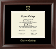 Chabot College Diploma Frame - Gold Embossed Diploma Frame in Rainier