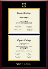Chabot College Diploma Frame - Double Document Diploma Frame in Galleria