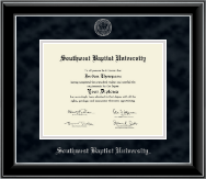 Southwest Baptist University  Diploma Frame - Silver Embossed Diploma Frame in Onyx Silver