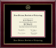 Rose Hulman Institute of Technology Diploma Frame - Gold Embossed Diploma Frame in Gallery