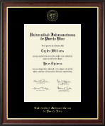 Universidad Interamericana de Puerto Rico Diploma Frame - Gold Embossed Diploma Frame in Studio Gold