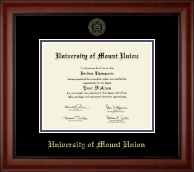 University of Mount Union Diploma Frame - Gold Embossed Diploma Frame in Cambridge
