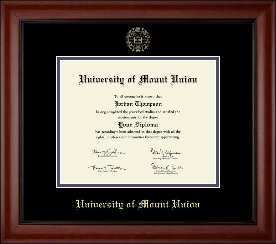 university of mount union gold embossed diploma frame in cambridge  university of mount union gold embossed diploma frame in cambridge item 226403 from university store