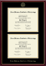 Rose Hulman Institute of Technology Diploma Frame - Double Document Diploma Frame in Galleria