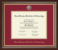 Rose Hulman Institute of Technology Diploma Frame - Masterpiece Medallion Diploma Frame in Hampshire