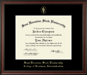 Sam Houston State University Diploma Frame - Gold Embossed Diploma Frame in Studio