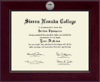 Sierra Nevada College Diploma Frame - Century Silver Engraved Diploma Frame in Cordova