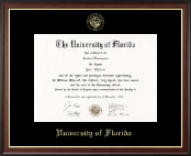 University of Florida Diploma Frame - Gold Embossed Diploma Frame in Studio Gold