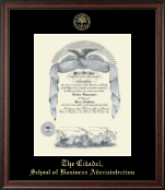 The Citadel The Military College of South Carolina Diploma Frame - Gold Embossed Diploma Frame in Studio