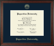 Pepperdine University Diploma Frame - Gold Embossed Diploma Frame in Studio
