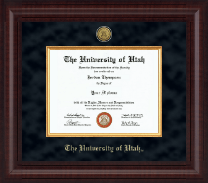 The University of Utah Diploma Frame - Presidential Gold Engraved Diploma Frame in Premier