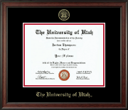 The University of Utah Diploma Frame - Gold Embossed Diploma Frame in Studio