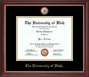 The University of Utah Diploma Frame - Masterpiece Medallion Diploma Frame in Kensington Gold