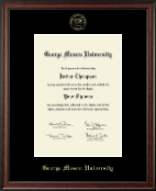 George Mason University Diploma Frame - Gold Embossed Diploma Frame in Studio