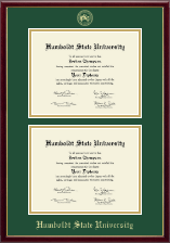 Humboldt State University  Diploma Frame - Double Document Diploma Frame in Galleria