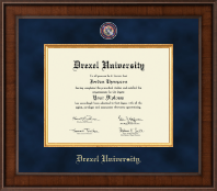 Drexel University Diploma Frame - Presidential Masterpiece Diploma Frame in Madison