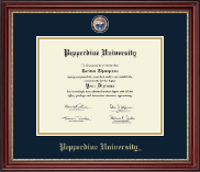Pepperdine University Diploma Frame - Masterpiece Medallion Diploma Frame in Kensington Gold