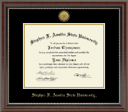 Stephen F. Austin State University Diploma Frame - Gold Engraved Medallion Diploma Frame in Chateau